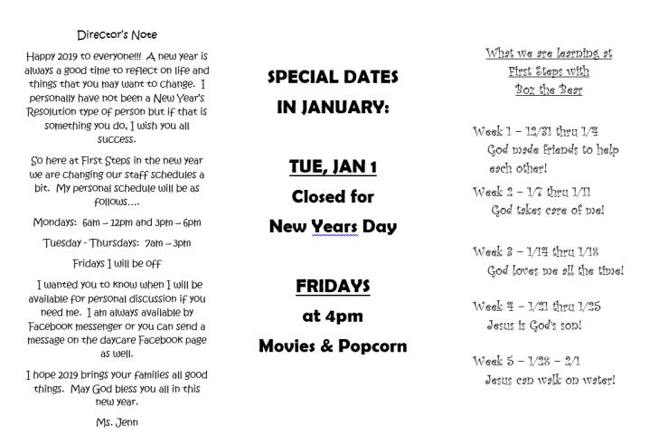 January Newsletter Pg 1