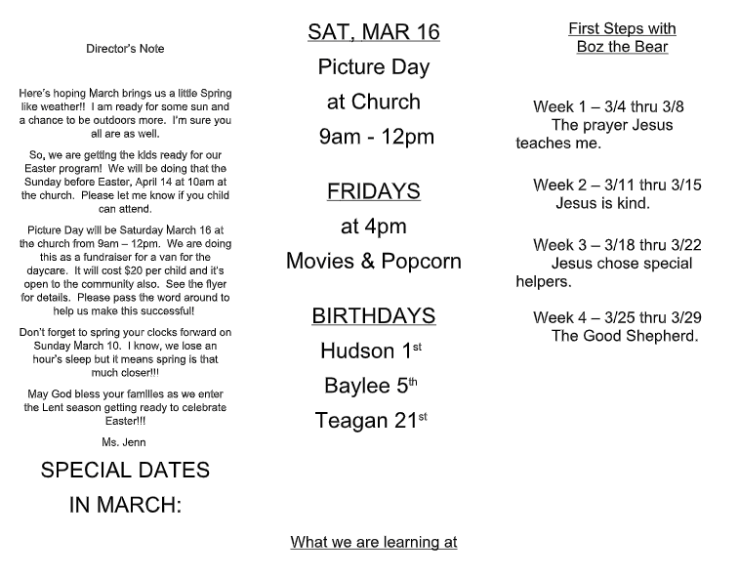 March Newsletter 1