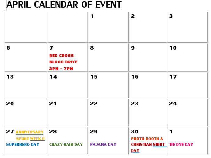 APR EVENTS