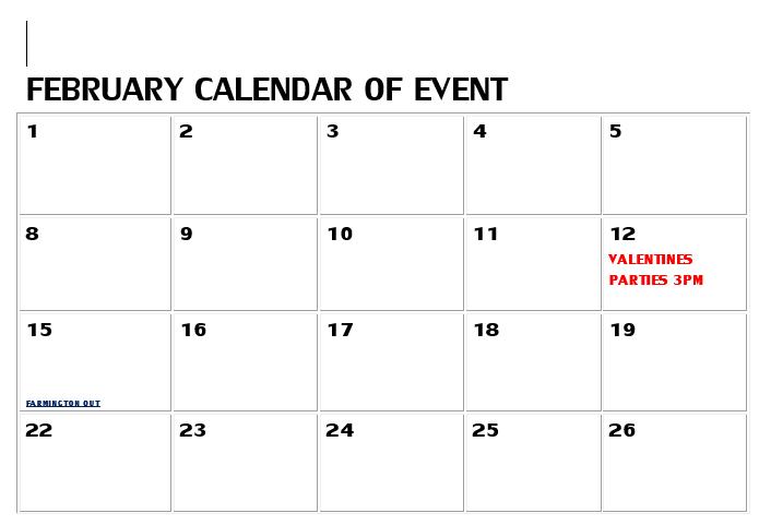 FEB EVENTS